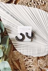 Emma Black Weaved Earrings