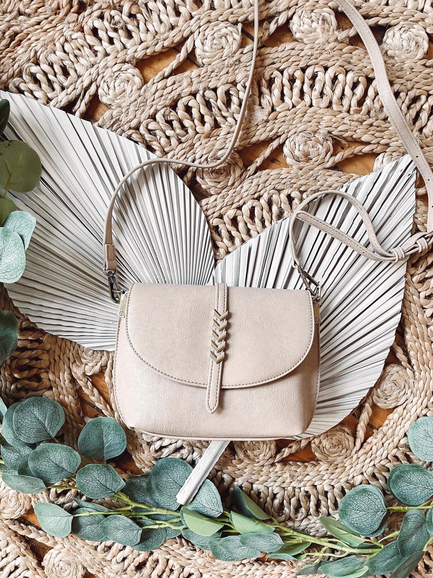 Kyra Light Taupe Crossbody Bag