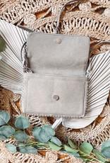 Leah Light Grey Crossbody Bag