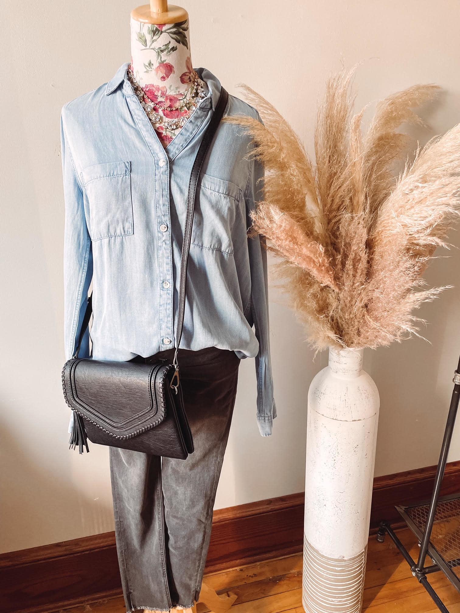 Laurel Black Crossbody Bag
