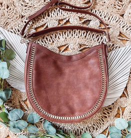 Aria Tan Studded Bag