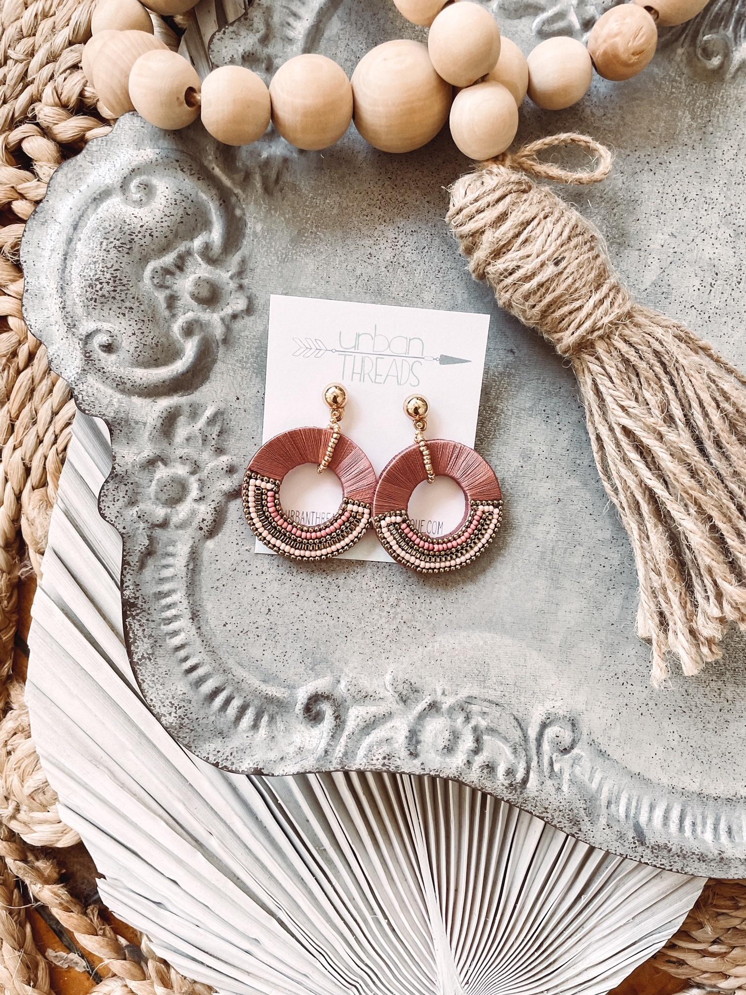 Kennedy Mauve Beaded Earrings