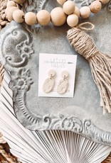 Emma Ivory Clay Earrings