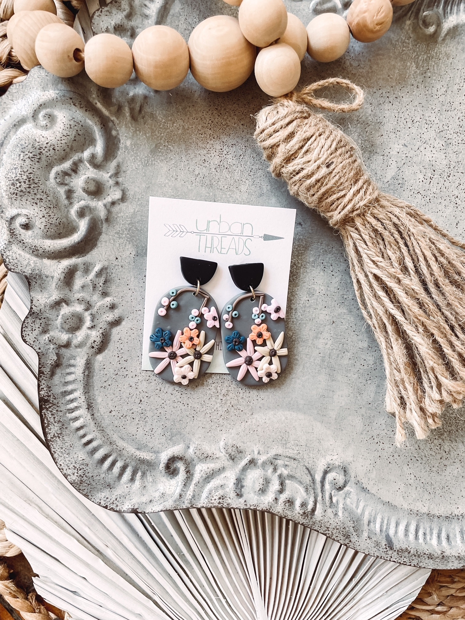 Skylar Clay Floral Earrings