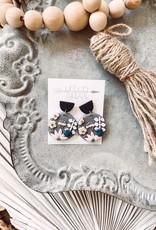 Sophie Clay Floral Earrings