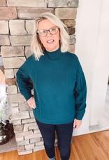 Rebecca Teal Mock Neck Sweater