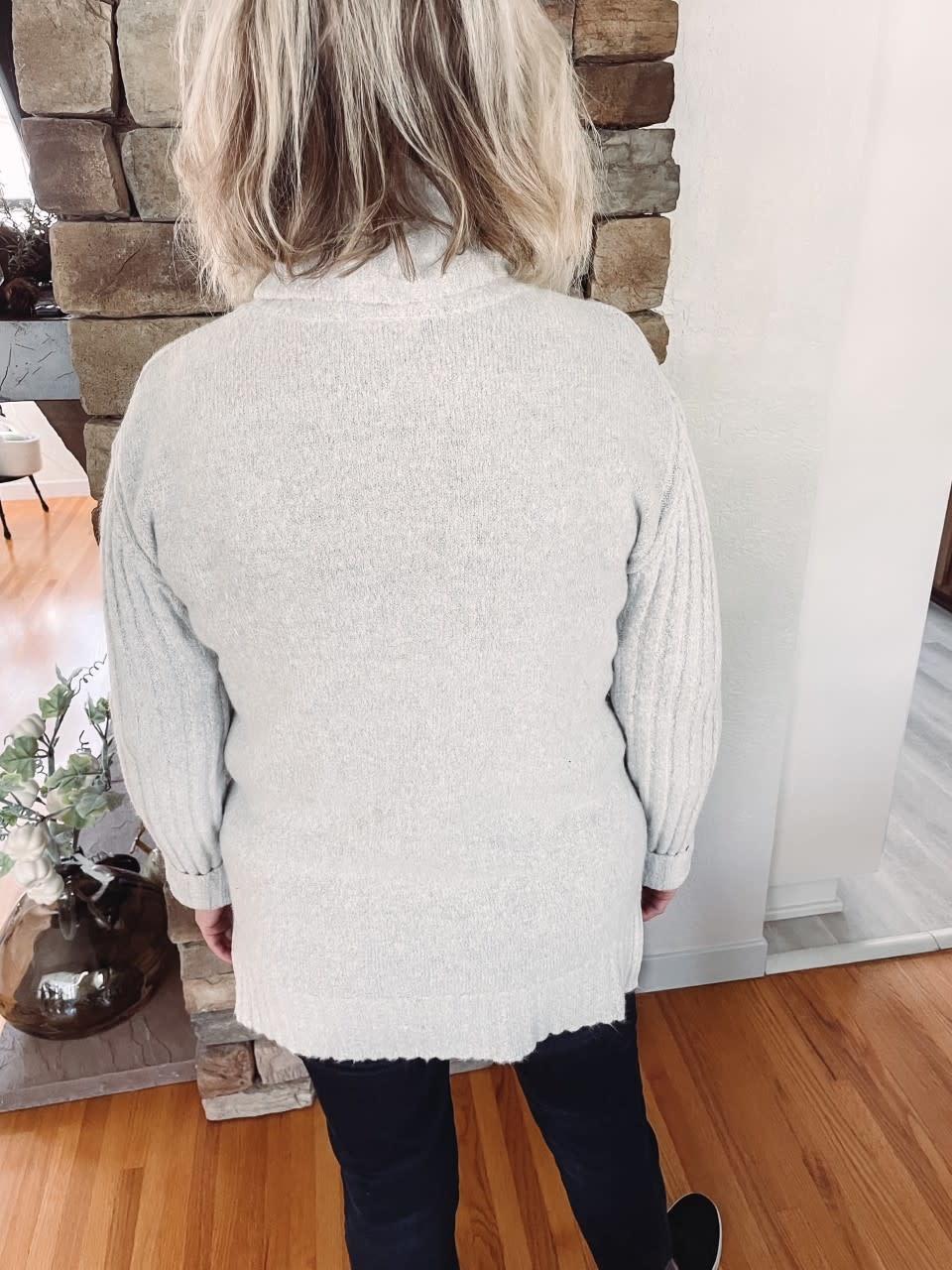 Chelsea Grey Turtleneck Sweater