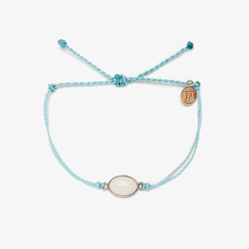 PuraVida Ice Blue Opal Charm Bracelet