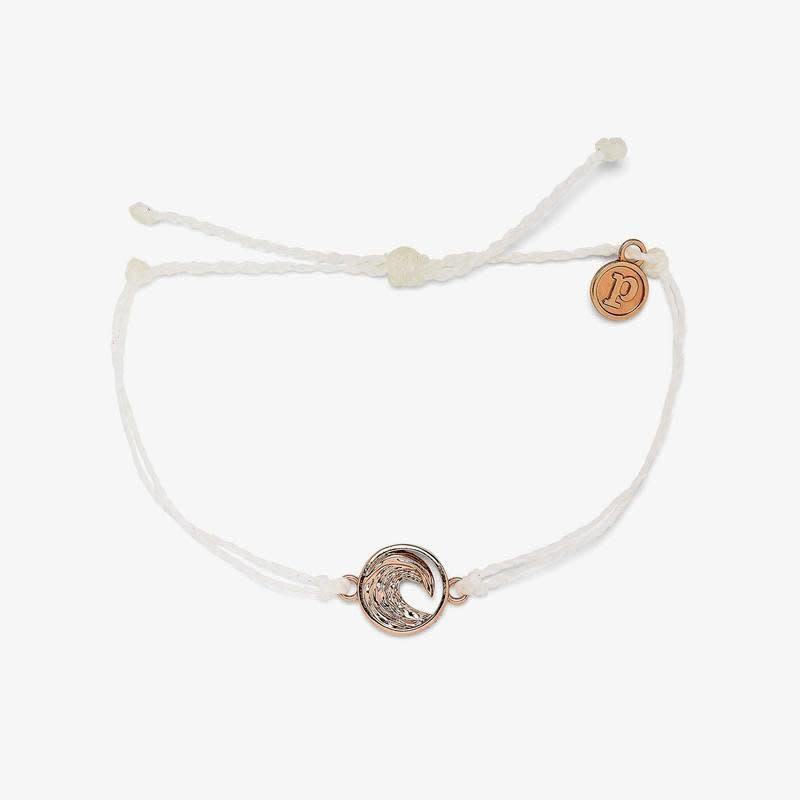 PuraVida White Swell Rose Gold Bracelet
