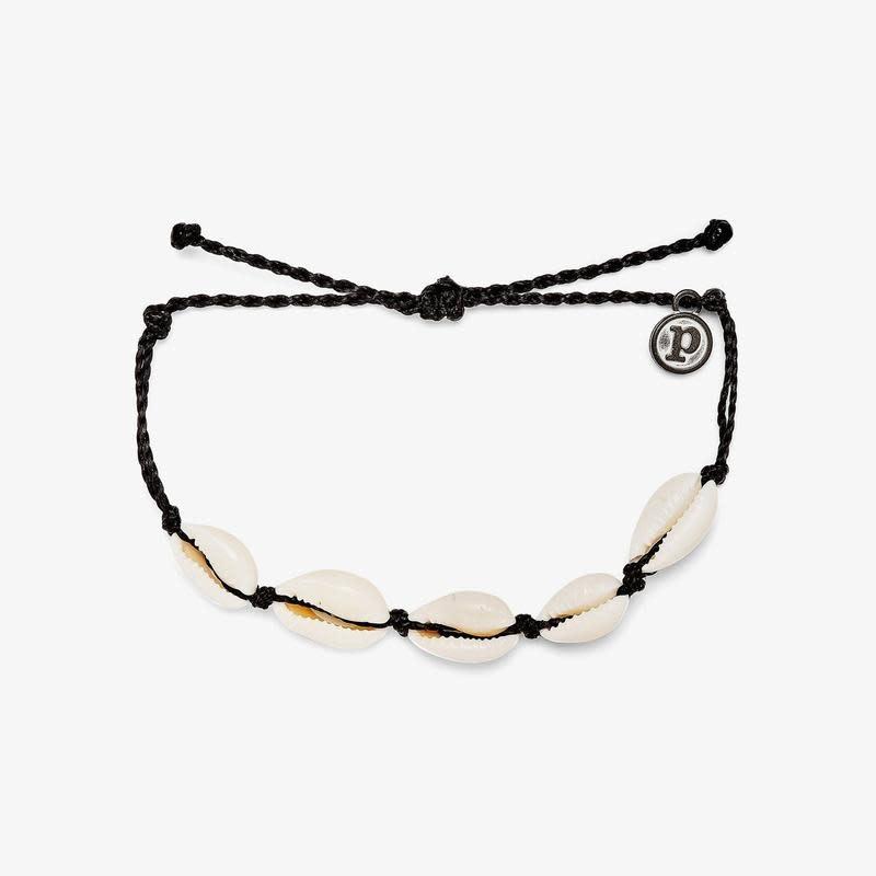 PuraVida Black Knotted Cowries Bracelet