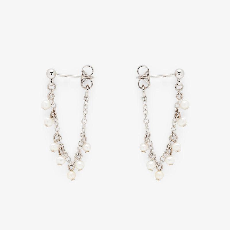 PuraVida Pearl Chain Wrap Earrings