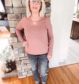 Lindsey Terra Cotta Long Sleeve