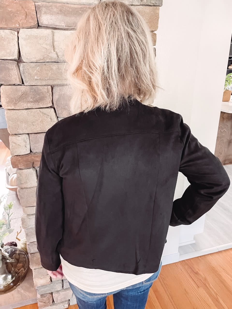 Abigail Black Suede Jacket