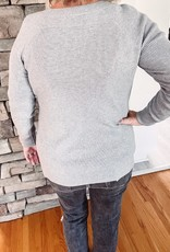 Dawn Grey Waffle Sweater