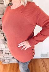 Dawn Rust Waffle Sweater