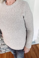 Taupe Elbow Patch Sweater