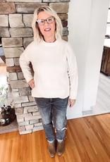 Sadie Cream Crew Neck Sweater