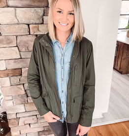 Lucy Olive Military Jacket
