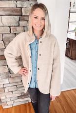Khaki Sherpa Jacket