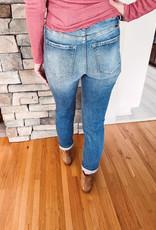 Kennedy High Rise Slim Straight Jeans