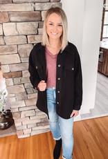 Oversized Black Fleece Jacket