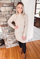 Laiken Taupe Sweater Dress