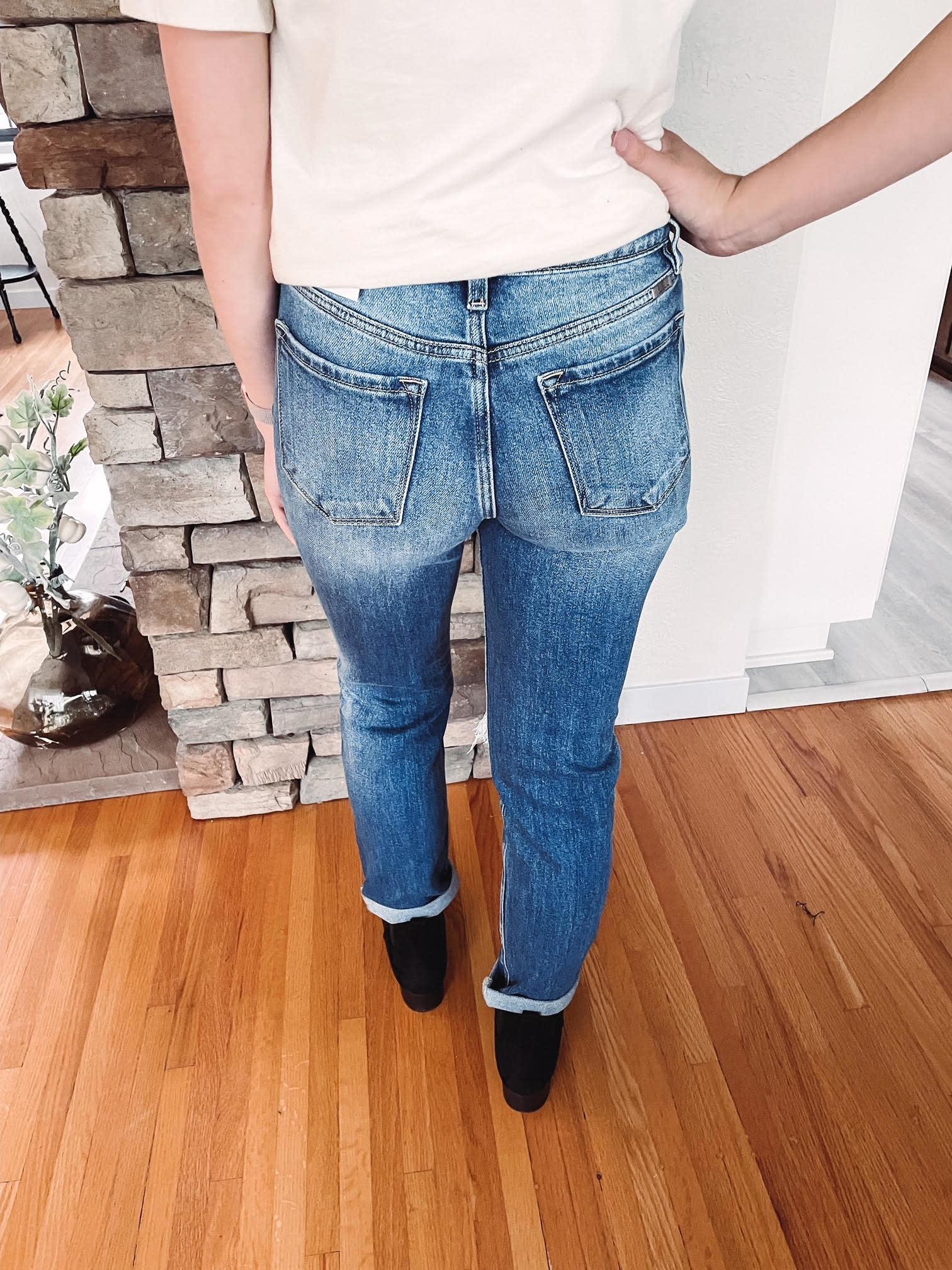Kinley High Rise Slim Straight Jean