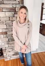 Anne Oatmeal Slouchy Cowl Neck