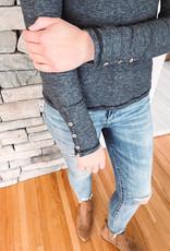 Charcoal Henley Long Sleeve
