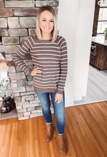 Lennox Cappuccino Striped Sweater