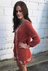 Rust Embroidered Tunic
