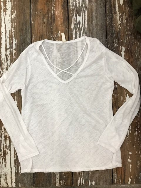Long Sleeve Criss Cross
