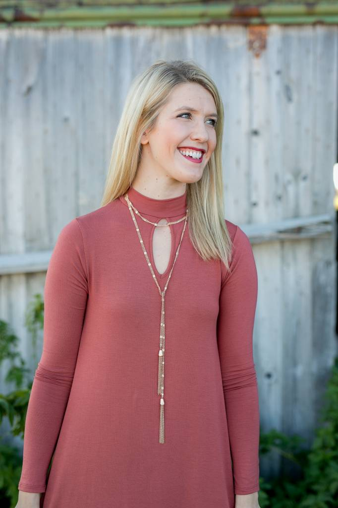 Auburn Tunic with Keyhole