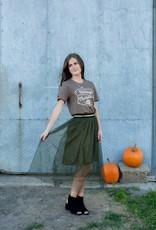 Olive Tulle Skirt