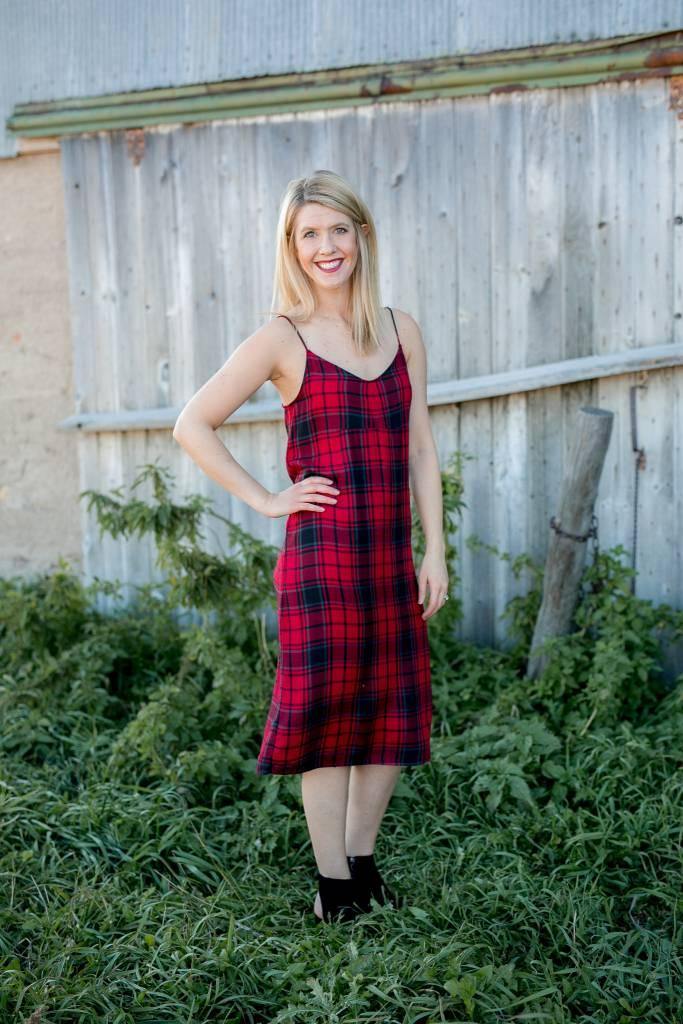 Plaid Slip Dress
