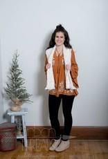 Ivory Furry Vest