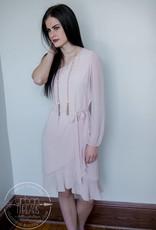 Blush One Shoulder Dress