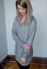 Sueded French Terry Tunic