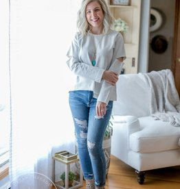 Sea Salt Distressed Sweatshirt