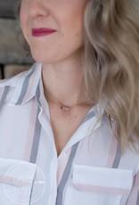 Blush Sparkle Stone Necklace