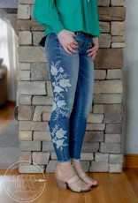 Embroidered Connie Ankle Skinnies