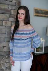 Striped Smocked Off Shoulder Top