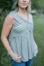 Black and White Criss Cross Top