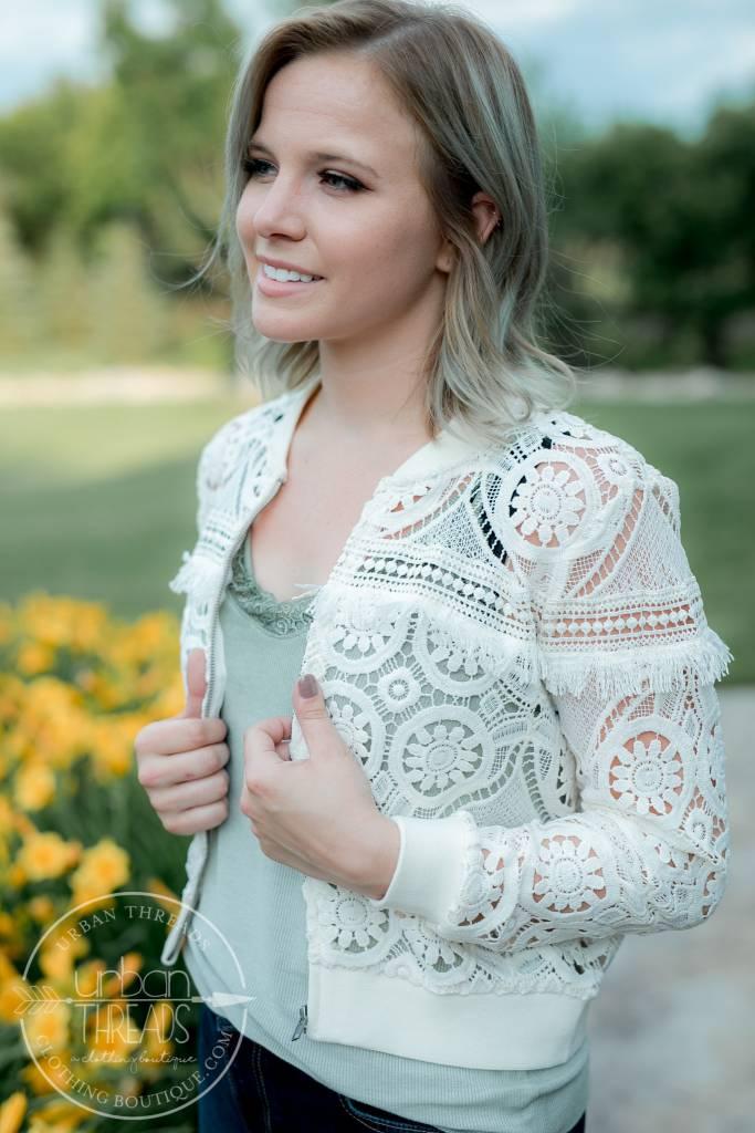 Emily Cloud White Jacket