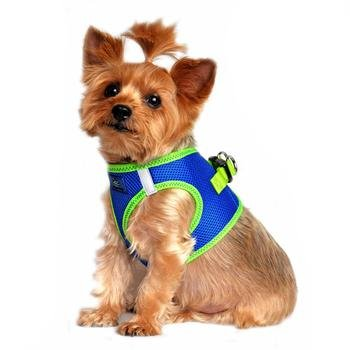 Doggie Design DOGGIE DESIGN AMERICAN RIVER SOLID ULTRA CHOKE FREE HARNESS COBALT BLUE