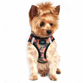 Doggie Design DOGGIE DESIGN AMERICAN RIVER CHOKE FREE HARNESS CAMOUFLAGE COLLECTION ORANGE CAMO
