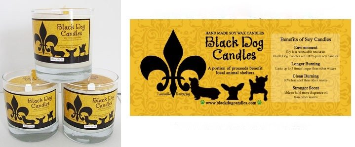 BLACK DOG CANDLES BLACK DOG CHRISTMAS PAST CANDLE 9oz