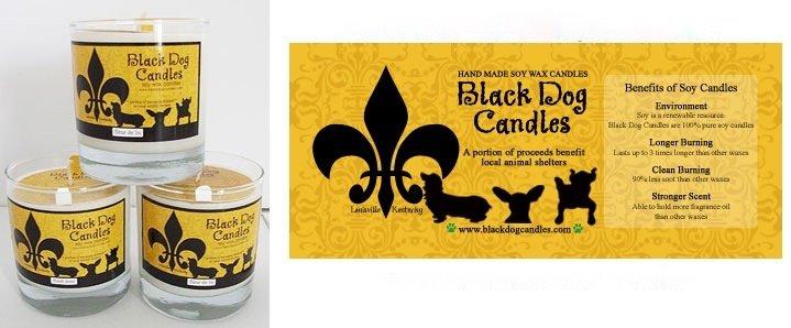 Black Dog Candles BLACK DOG PEPPERMINT STICK CANDLE 9oz