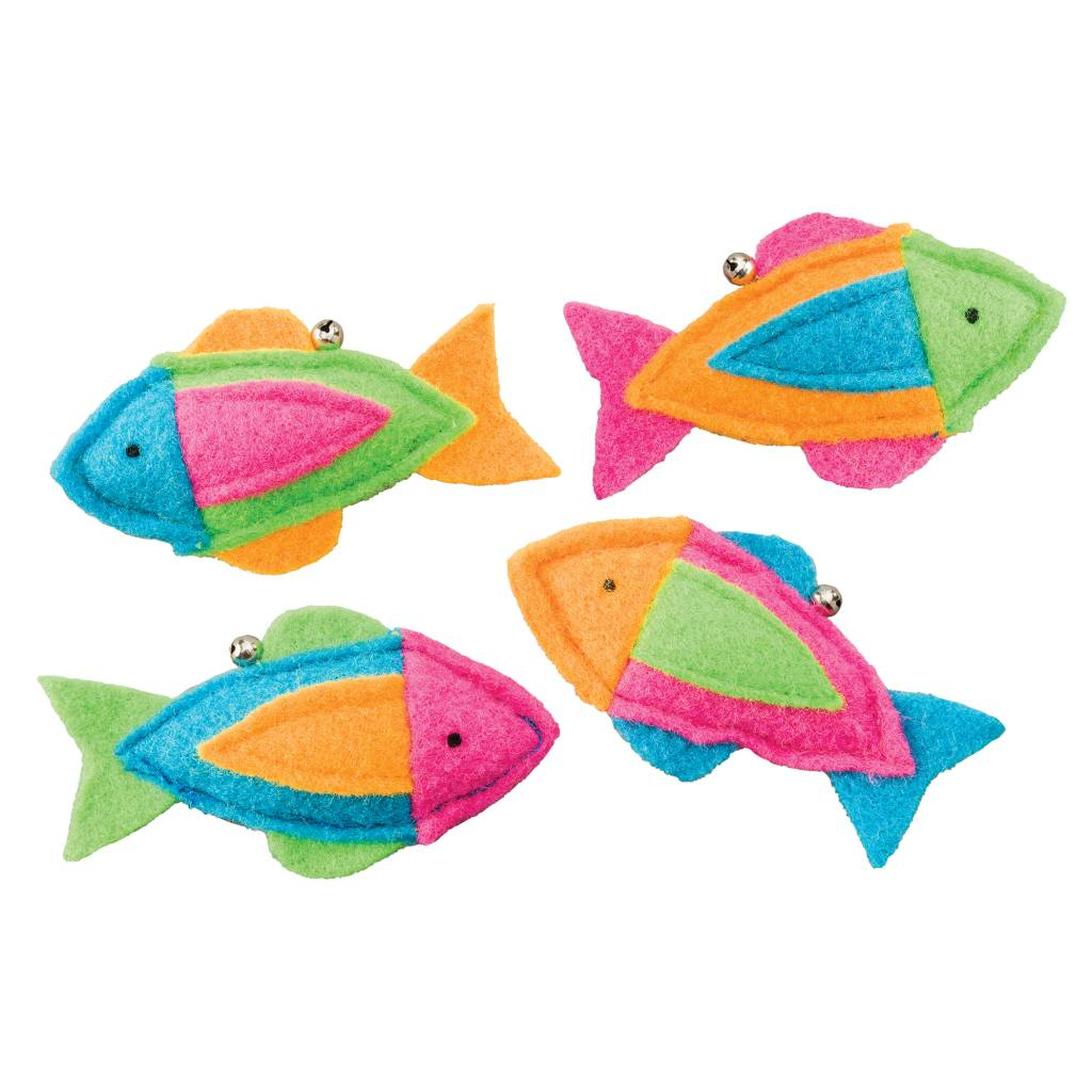 ETHICAL ETHICAL WHISKINS FELT FISH WITH CATNIP ASSORTED