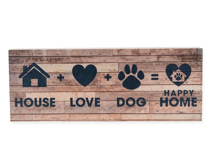 Dog Speak Dog Speak Large Pallet Box Sign House + Dog + Love = Home